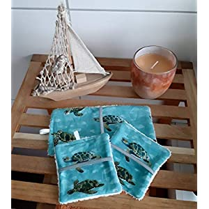Waschlappen + Kosmetikpads + Aufbewahrungstasche Set