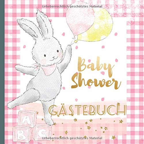 Gästebuch: Schaffe schöne Andenken mit diesem schönen Babyparty Mädchen Gästebuch mit...