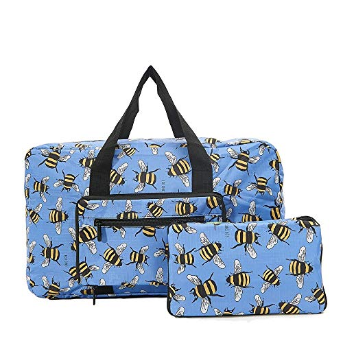 Folding Holdall Travel Bag Bumble Bee Print - Hand Luggage Size