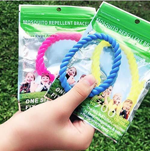 12 Pack Mosquito Repellent Bracelet,100% Natural Non-Toxic Bug Repellent Bracelet 350Hrs Protection - Insect Bug Repellent Kids,Women,Men