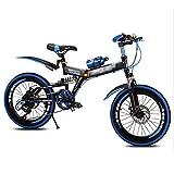 Bici pieghevoli Biciclette for Bambini Studenti Ragazzi E Ragazze 5-10 Anni Mountain Bike Biciclette 20 Pollici Biciclette Normali for Bambini Ragazzi E Ragazze (Color : Blue, Size : 20 Inches)