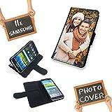PixiPrints Premium Flipcase Etui mit eigenem Foto und Text * Flip Tasche Handy Book Schutzhülle, Kompatibel mit Samsung Galaxy S9