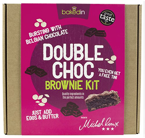 Bakedin - Double Chocolate Brownie Kit - Includes All The Dry Ingredients...