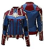 e Genius Veste en cuir pour déguisement de super-héros - Avengers, Endgame - Femme Cosplay - Veste en cuir pour femme - Veste de motard - - Small (32)