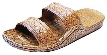 Pali Hawaii Unisex Adult Classic Jandal Sandal  Light Brown 9