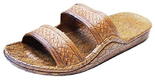 Pali Hawaii Unisex Adult Classic Jandal Sandal (Light Brown, 11)