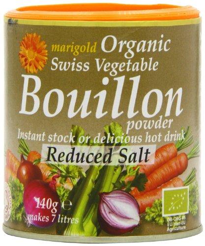 marigld organischen swiss reduziert Gemüsebouillon Salz Pulver grau Topf 140g