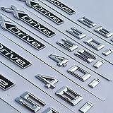 Logotipo de la capucha Para BMW X5 X6 X3 X4 x1 20i 28i 40i 35D 40D 50D Transporte trasero del metal del emblema del emblema de la letra del desplazamiento del desplazamiento Pegatina de insignia del g