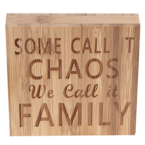 ULTNICE Some Call IT Chaos WE Call IT Family Block Sign Plaque Ornament Decor