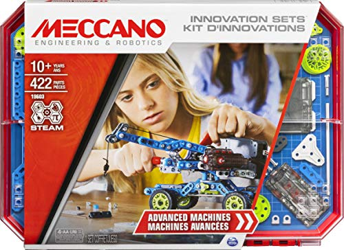 Meccano Inventor Set Creazioni in Movimento, Kit di Costruzione S.T.E.A.M. dai 10 Anni