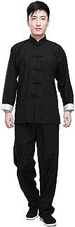 ZooBoo Kung Fu Uniform Clothing - Chinese Traditional Qi Gong Martial Arts Wing Chun Shaolin Tai Chi Taekwondo Training Cloths Apparel Clothing Pants for Man Women Arthritis - Cotton