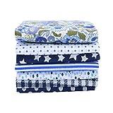 Tela acolchada   7pcs / set 25x25cm Patrón de flores Tela de algodón Tela impresa DIY Material de mosaico hecho a mano para costura Accesorios de costura-B05-