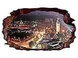3D Wandtattoo Leipzig Skyline Stadt Wandbild Wandsticker selbstklebend Wandmotiv Wohnzimmer Wand Aufkleber 11E737, Wandbild Größe E:98cmx58cm