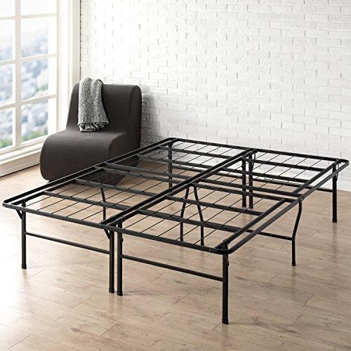 Best Price Mattress 18 Inch Metal Platform Beds w/ Heavy Duty Steel Slat Mattress Foundation (No Box Spring Needed), Black