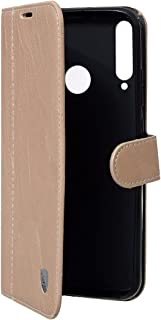 Lishen Leather Flip Cover For Huawei Y7P - Gold