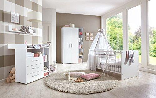 Kinderzimmer Babyzimmer komplett Set in Weiß (KIM 1)