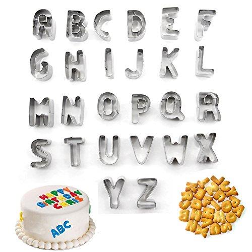 Lot de 40 Moules /à P/âtisserie en Plastique Forme Alphabets Chiffres Symboles Ustensile pour D/écoration de G/âteau P/âte /à Sucre Biscuit Moule Chiffres LangTek Emporte-pi/èces Alphabets