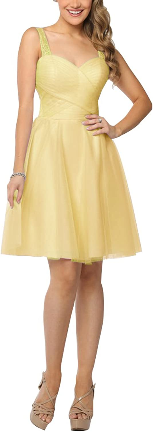 Bridesmaid Dress Short ALine Backless Sweetheart Homecoming Party Gown for Women