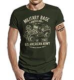 Gasoline Bandit Camiseta de diseño original de motorista militar para el fan del ejército Jeep verde oliva XXL