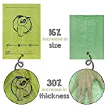 YORJA Dog Poo Bags,24 Rolls/360 Pooh Bags,Extra Thick and Strong,Leak Proof,Biodegradable Poop Bags for Dogs,Unscented Waste Bag 9