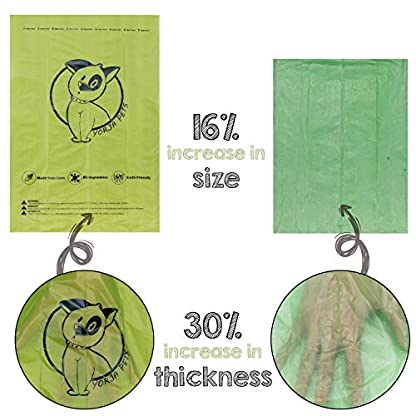 YORJA Dog Poo Bags,24 Rolls/360 Pooh Bags,Extra Thick and Strong,Leak Proof,Biodegradable Poop Bags for Dogs,Unscented Waste Bag 3