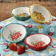 The Pioneer Woman Vintage Floral Mini Pie Plate Set, Set of 4 (Pack of 2)