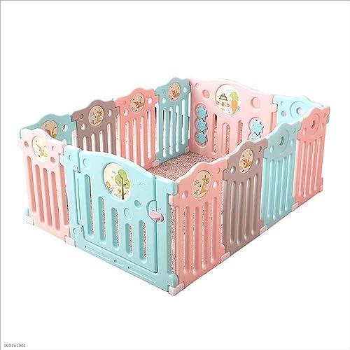 DENGDAI Plastik-Baby-Spiel-Zaun mit aktivem Panel Anti-Skid-Spielplatz todkranke Kletterzaun,8+2Panel