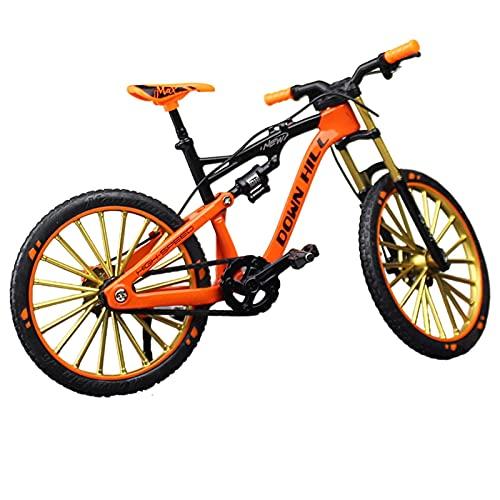 Pisamhid Mini bicicleta BMX bicicleta de dedo, decoración en miniatura 1:10, de escritorio, modelo de bicicleta de montaña ornamental