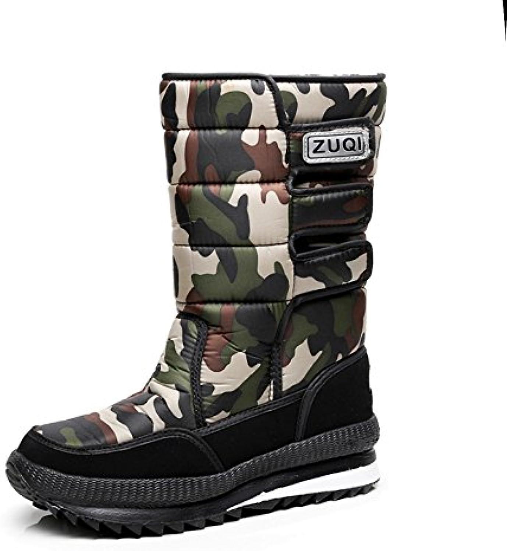 CLAKION Snow Boots,Warm Plush Outdoor Non-Slip Waterproof