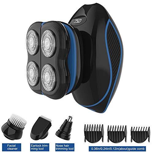 Jinclonder 5-in-1 tondeuse slapen neus haarvormer trimmer 4D drijvende kop elektrische tondeuse set IPX7 niveau lichaam waterdichte gezichtsreiniging