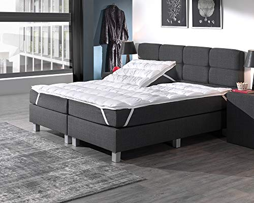 Split Topper, Optimaal Slaapcomfort, Matrasbeschermer, voor matrassen en boxsprings, 180x200, Wit