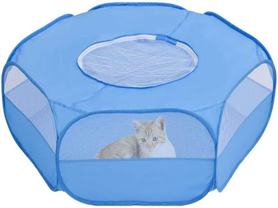 Motley Small Animal Playpen Gifts Safety and trust with Foldable Cover Portable Pet Cag