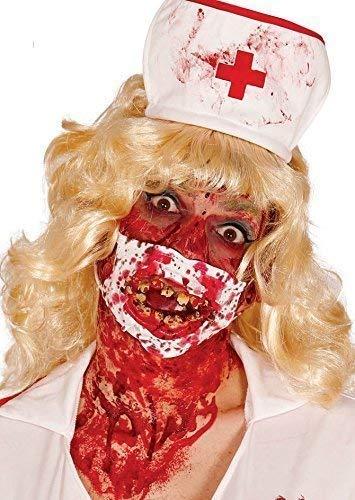 Fancy Me Femmes Hommes Mort Zombie Sanglant Halloween Masque Visage Costume Déguisement Accessoire