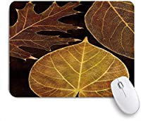 NIESIKKLAマウスパッド 自然秋のもみじは秋に枝を残します土色の色あせた森林アートプリント ゲーミング オフィス最適 高級感 おしゃれ 防水 耐久性が良い 滑り止めゴム底 ゲーミングなど適用 用ノートブックコンピュータマウスマット