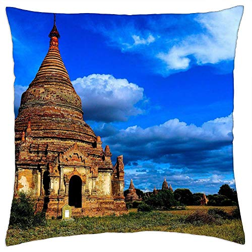 LESGAULEST Throw Pillow Cover (18x18 inch) - Myanmar Burma Asia Travel Temple Culture Buddhism