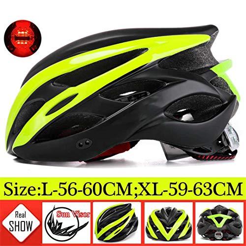 Casco de bicicleta de montaña para hombre y mujer, diseño integral, ultraligero,...