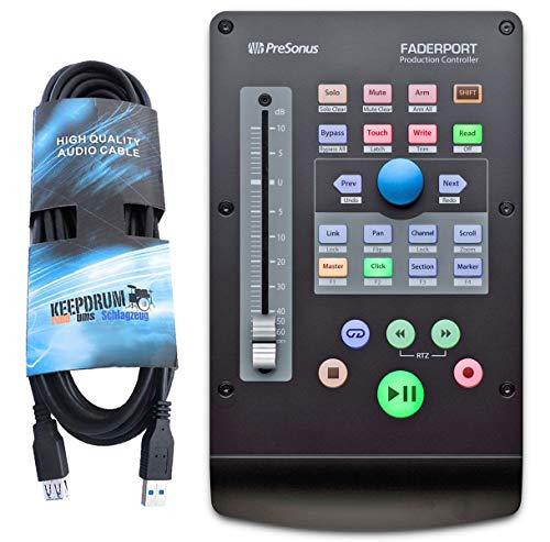 Presonus Faderport V2 DAW-Controller + Keedprum USB Verlängerungskabel