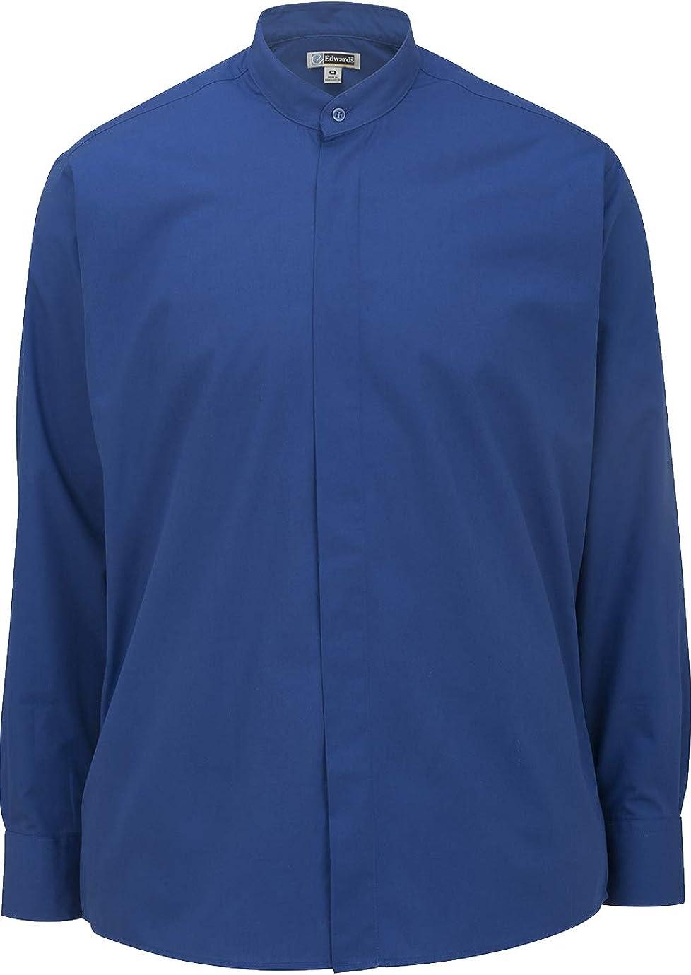 Edwards Men's Banded Collar Shirt