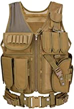 Tactical Vest for Men Military Barbarians, Adjustable Airsoft Paintball Vest, Breathable Modular Assault Vest for Combat Training, CS game