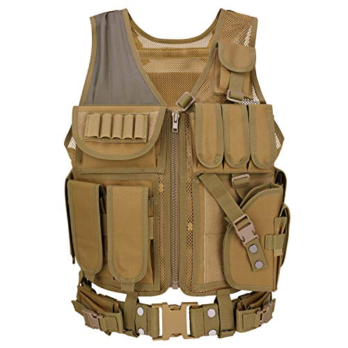 Barbarians Tactical Molle Vest Military Airsoft Paintball Vest Assault Swat Vest Adjustable Lightweight