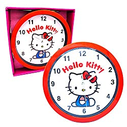 Hello Kitty Analog Display Wall Clock Nice for Gift or Office Home Wall Décor 9.5 inch