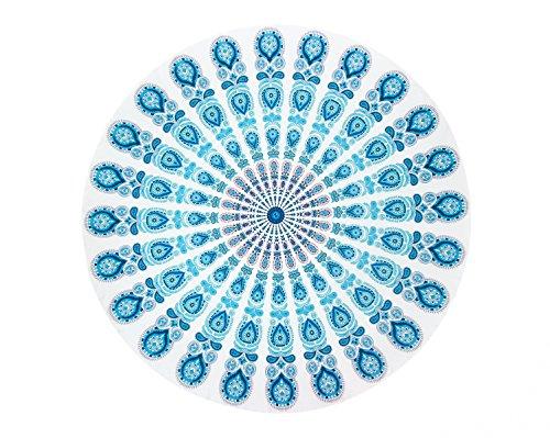 Mandala strandhanddoek Indiase muur opknoping strand gooi handdoek picknick mat yoga mat zonnebrandcrème sjaal wrap rok kwastjes katoen tapijt ronde door Stillshine