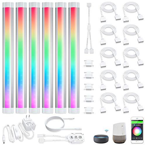 Smart Under Cabinet Lighting RGB Multicolors LED Strip Lights Works