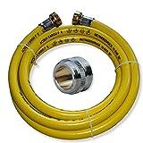 Heizung Füllschlauch Füllschlauchset für Heizung 2,5m mit Verbindungsstück für Waschtischmischer M24x1 AG x 3/4' AG