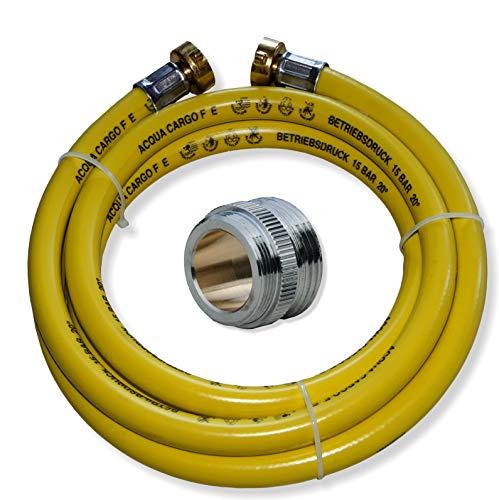 Heizung Füllschlauch Füllschlauchset für Heizung 5m mit Verbindungsstück für Waschtischmischer M24x1 AG x 3/4