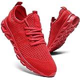 Zapatillas de correr para hombre, para caminar, tenis, deporte, de peso ligero, gimnasio, fitness, correr, casual, zapatillas de deporte para hombres, Red, 40 2/3 EU