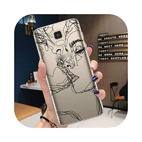 Funda para Samsung Note 10 Pro Lite J3 J5 J7 2017 J4 J6 Plus 2018 Carcasa a la moda Amant Art Abstracto Cara Flexible Trasera para Note 10 Lite