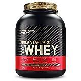 Optimum Nutrition ON Gold Standard Whey Protein Pulver, Eiweißpulver Muskelaufbau mit Glutamin und Aminosäuren, natürlich enthaltene BCAA, Double Rich Chocolate, 74 Portionen, 2,27kg
