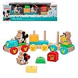 Disney-TREN DE Madera MICKYE Y Minnie 34 CM Treno in Legno Topolino, 48702