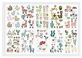 Qqinghan 10 unids/Lote niños Etiqueta engomada de los niños Animales de...